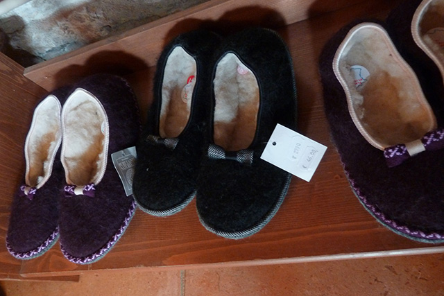 Chaussons Mohair